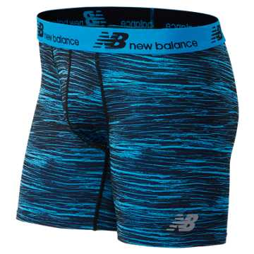 New Balance Fresh 6In Boxer Brief 2Pack, Blue with Grey