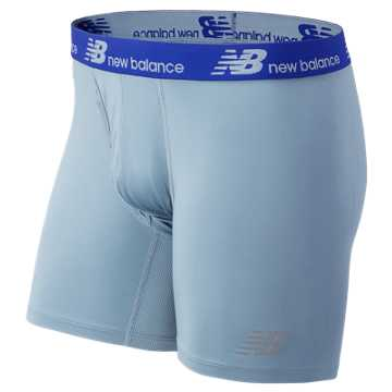 New Balance NB Dry NB Fresh Performance Underwear 2 pack, Marine Blue with Cyclone
