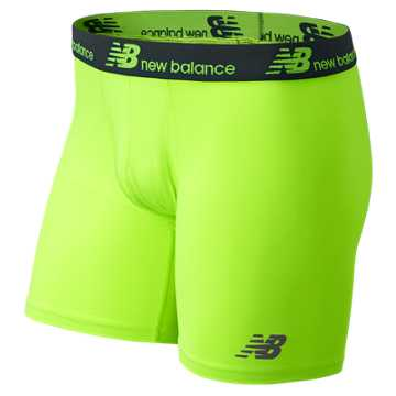 New Balance NB Dry NB Fresh Performance Underwear 2 pack, Thunder with Toxic