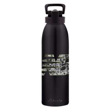New Balance 24 oz Classic Bottle, Black with White