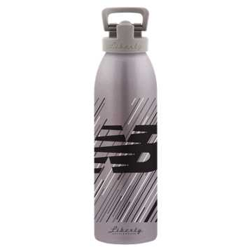 New Balance 24 oz Classic Bottle, Grey with Black