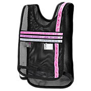 Komen Reflective Vest, Black with Pink