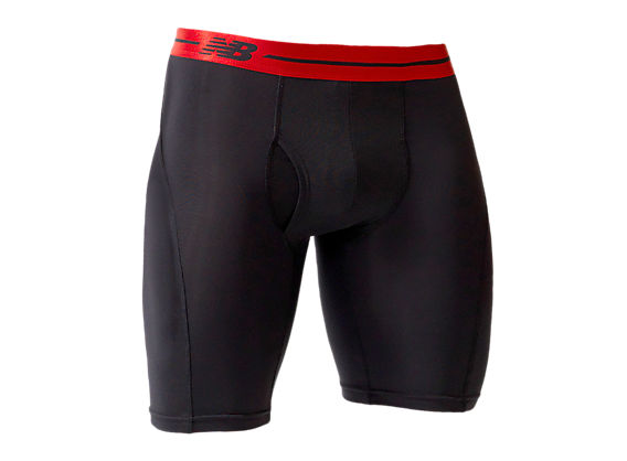 "Sport Brief 9"", Black with Red"