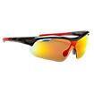 Interchangeable Lens Sunglasses, Black with Red