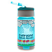 Kids Tritan 320ml bottle, Teal with Silver & Navy