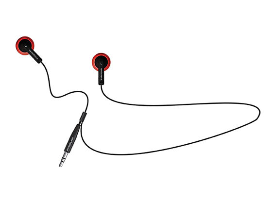 Sport Headphones, Black with Red