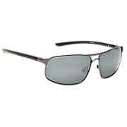 Sunglasses with Polarized Lenses, Gunmetal with Black & Silver