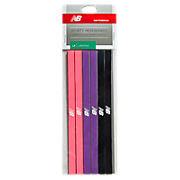 Sporty Headbands (6 Pack), Pink with Purple & Black