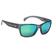 Sunglasses with Polarized Lenses, Grey with Green