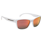 Sunglasses with Polarized Lenses, White with Red