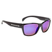 Sunglasses with Polarized Lenses, Black with Blue