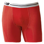 "Sport Brief 6"", Red with Silver"