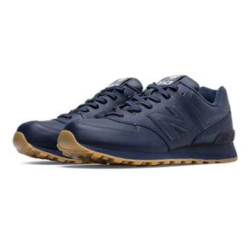 New Balance 574 Leather, Navy