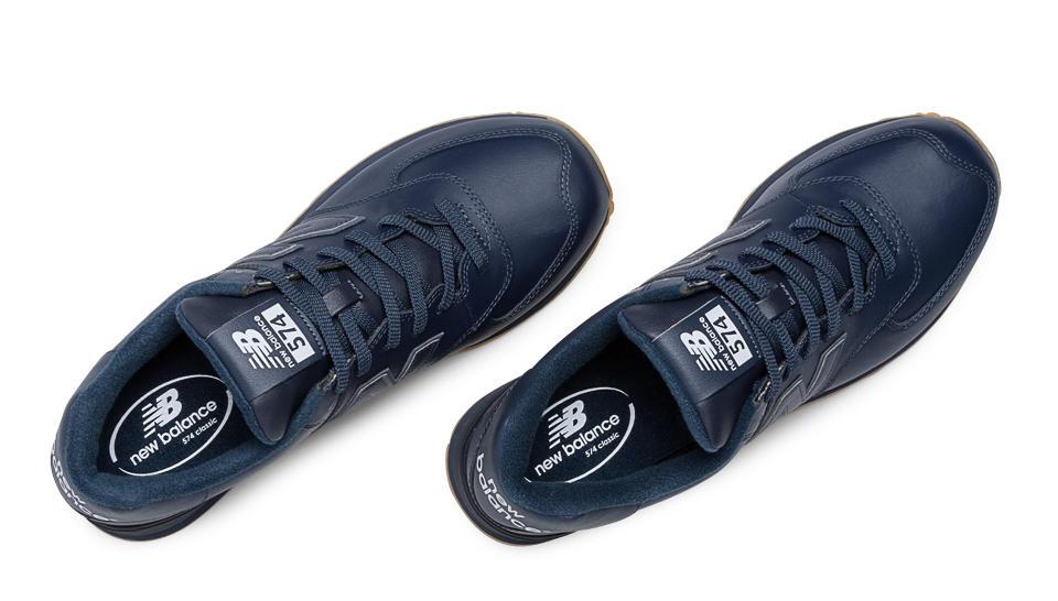New Balance Blue Leather