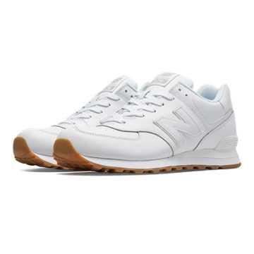 New Balance 574 Leather, White