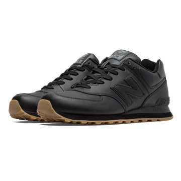 New Balance 574 Leather, Black