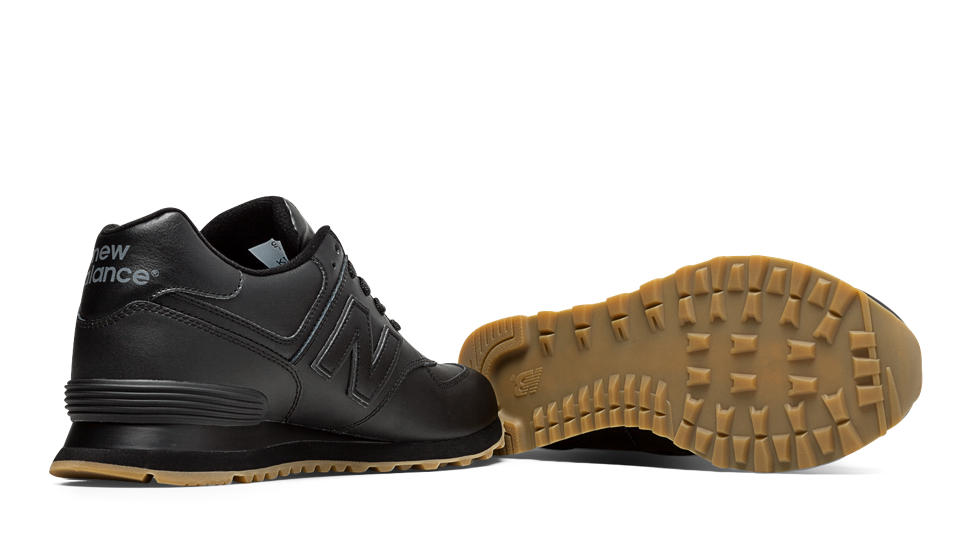 new balance 574 leather gum