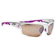 Lace Up Sunglasses, Silver with Pink
