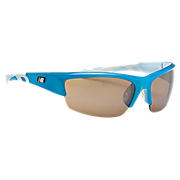 Lightweight Impact Sunglasses, Blue with White