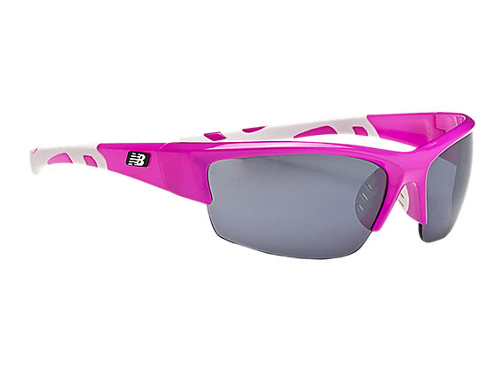 Lightweight Impact Sunglasses, Pink with White