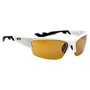 Lightweight Impact Sunglasses, White with Black