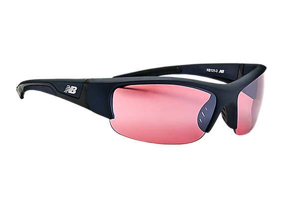 Lightweight Impact Sunglasses, Black with Silver