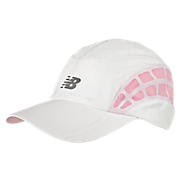 Momentum Stride Cap, White with Pink