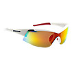 Lightweight Sunglasses, White with Red
