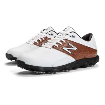 New Balance Minimus LX Golf, White with Brown