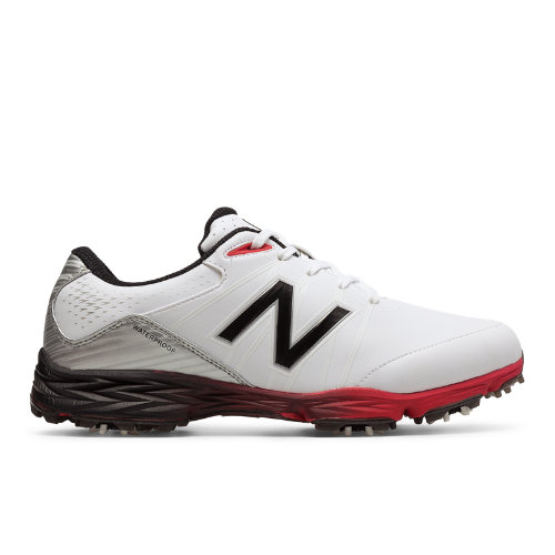 New Balance Golf 2004 Men's Golf Shoes - White/Red/Black (NBG2004WR)