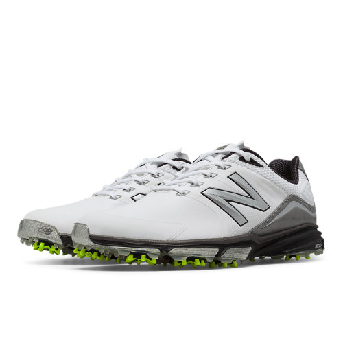 Men's New Balance NBG3001 Golf Shoe - White/Green Lace Up Shoes