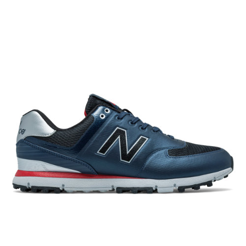 New Balance Golf 518 Men's Golf Shoes - Navy/Red/Grey (NBG518NR)