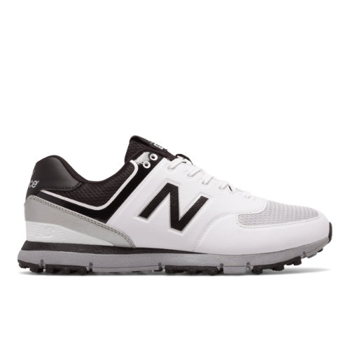 New Balance Golf 518 Men's Golf Shoes - White/Black/Grey (NBG518WK)