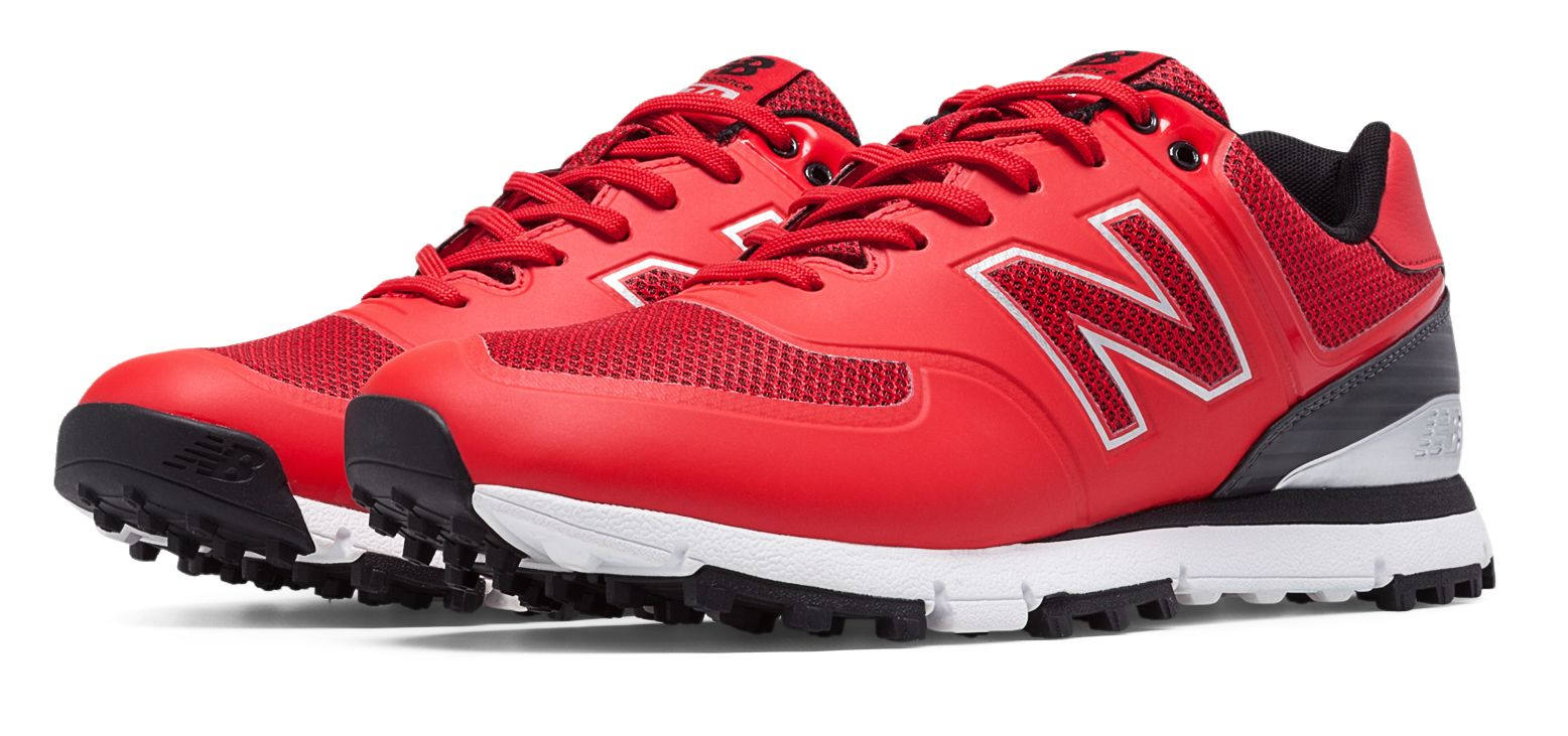 New Balance Golf 574 Mens Shoes Red