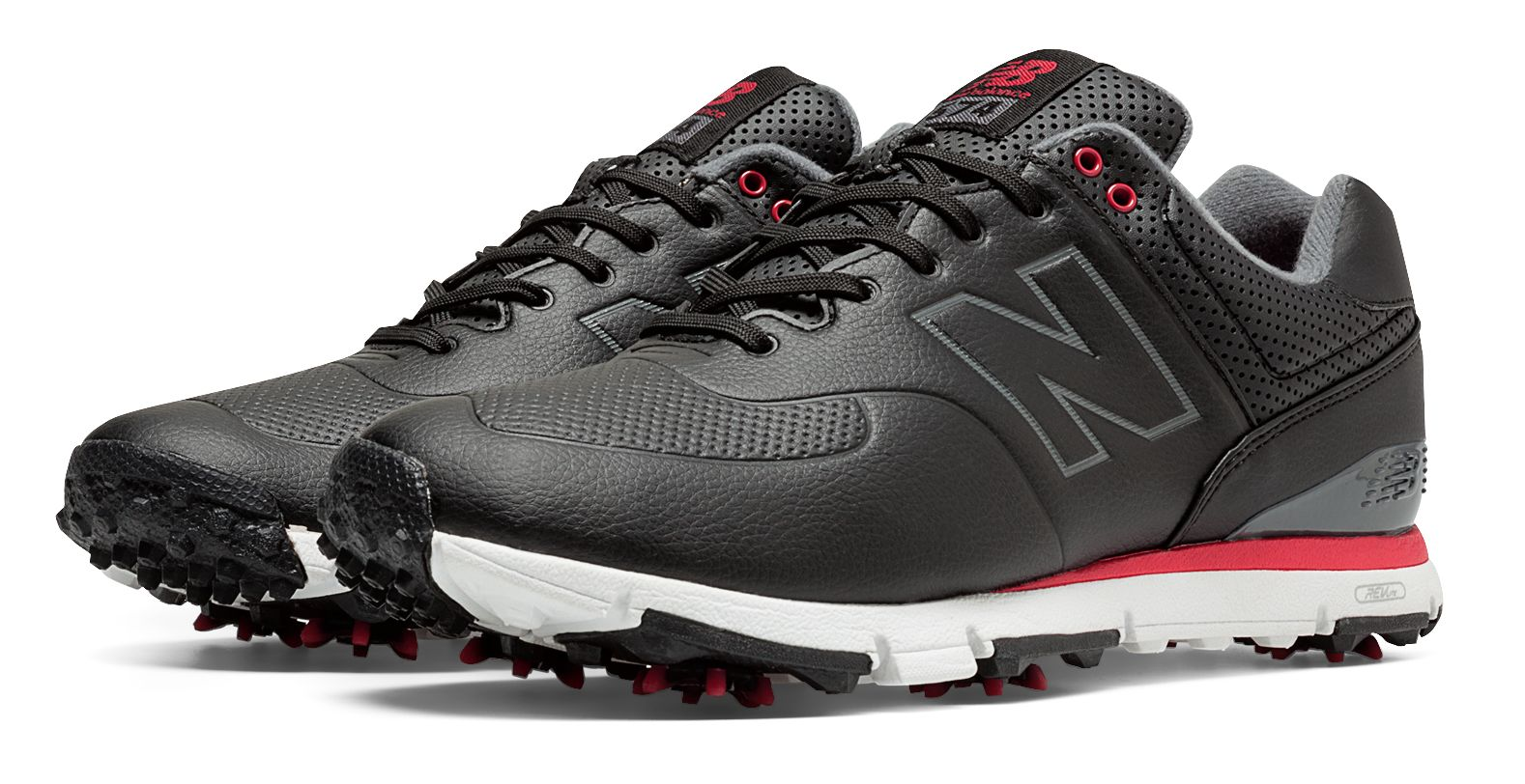 New Balance Golf Leather 574 Mens Shoes Black