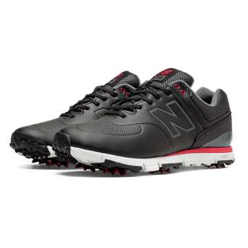 New Balance New Balance Golf Leather 574, Black with White & Red