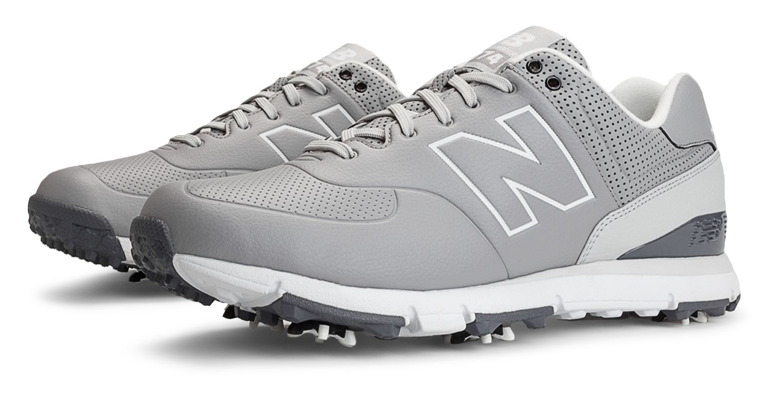 New Balance Golf Leather 574 Mens Shoes Grey