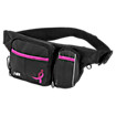 Lace Up Walker Bag, Black with Pink