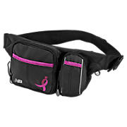 Komen Walker Bag, Black with Pink