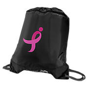Lace Up Sackpack, Black with Pink