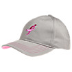 LUFTC Cotton Hat, Grey with Pink