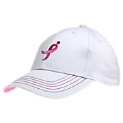 LUFTC Cotton Hat, White with Pink