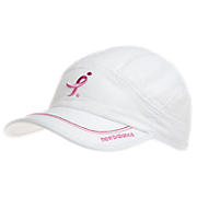 Lace Up for the Cure Cap, White with Pink