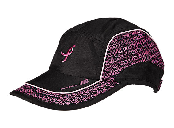 Lace Up for the Cure Performance Hat, Black with Pink