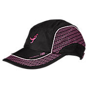 Komen Performance Hat, Black with Pink