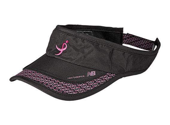 Lace Up for the Cure Visor, Black with Pink