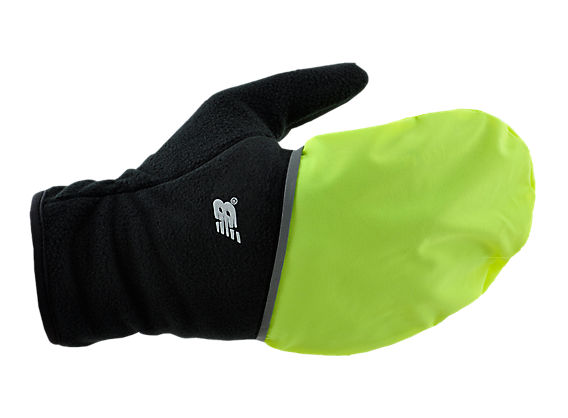 Convertible Glove, Black with Hi Viz Yellow