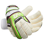 Furon Damage Roll Glove, White with Green & Alpha Pink
