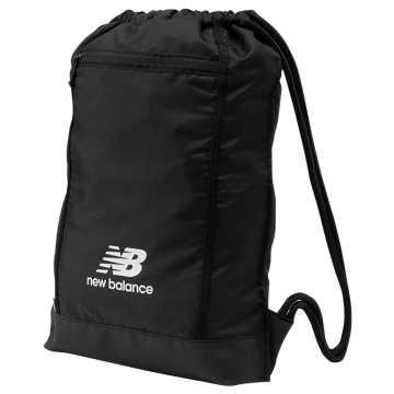Team Gym Bag, Black with White