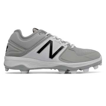 New Balance Low-Cut 3000v3 TPU Molded Cleat, Grey with White